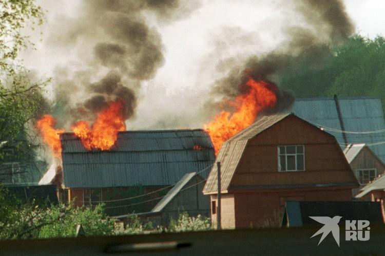 Если возник пожар и пострадало имущество, положен штраф до 5 тысяч рублей.