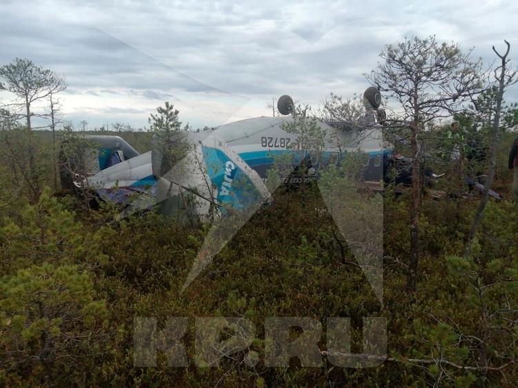Удивительно, что при такой посадке люди остались целы. Фото: Сибирский авиационный поисково-спасательный центр