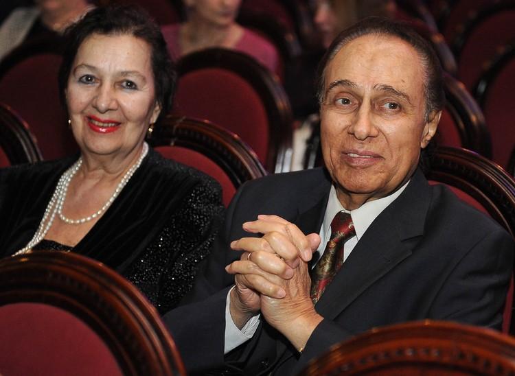Николай Сличенко с супругой, актрисой Тамиллой Агамировой в 2013 году. Фото ИТАР-ТАСС/ Александра Мудрац