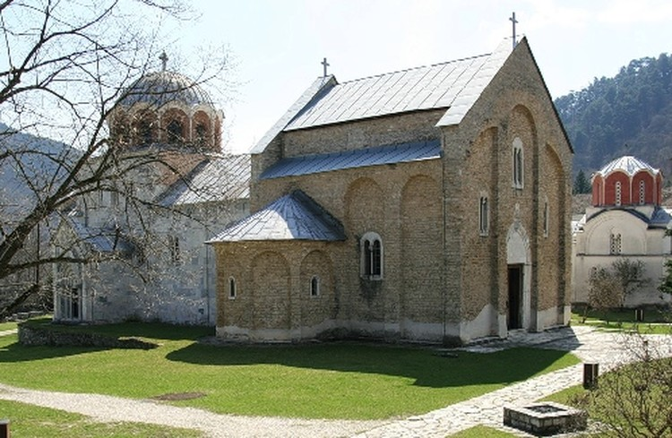 Церковь сурового монастыря Студеница.