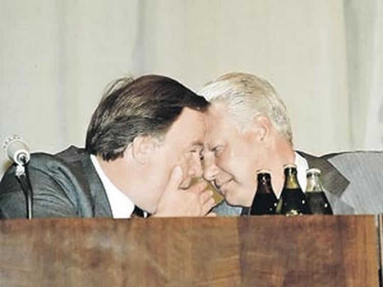 Когда-то Михаил Никифорович и Борис Николаевич были не разлей вода!