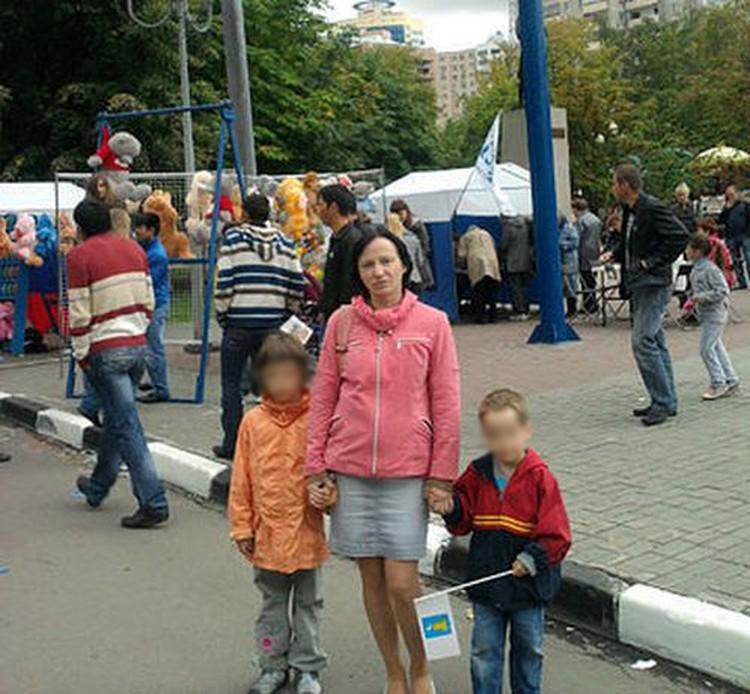 Лариса с детьми