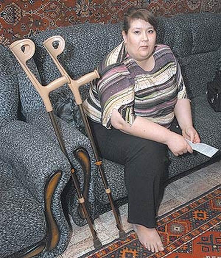 Вместе с ногой Оксана Кондрашкина потеряла все шансы на нормальную жизнь...