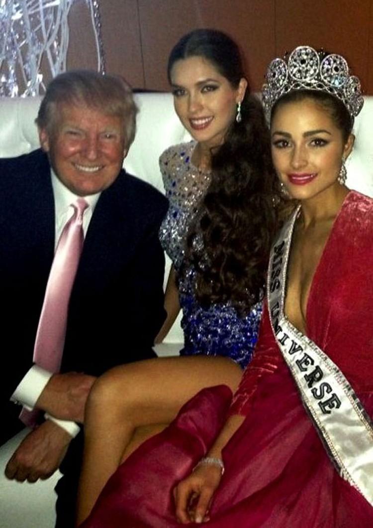 Доналд Трамп, Елизавета Голованова, Оливия Кульпо.