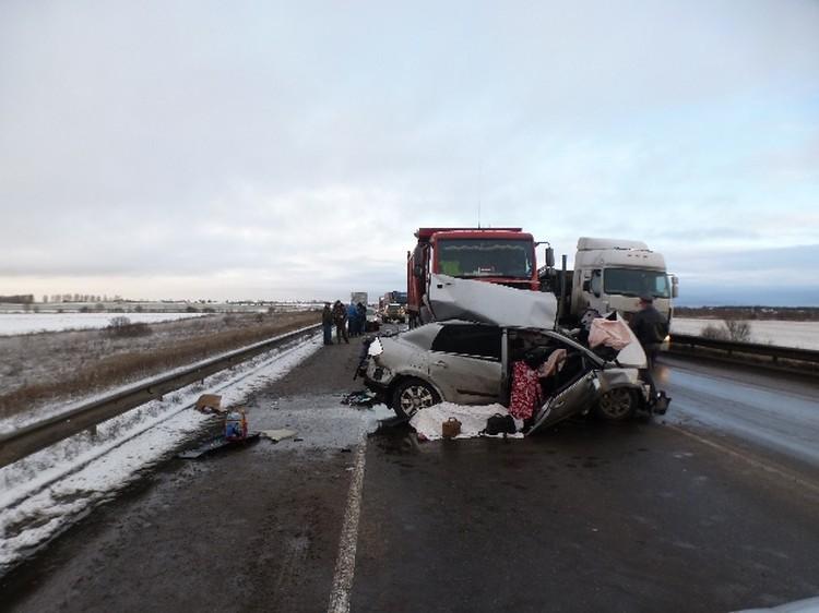 Авария произошла под Вологдой