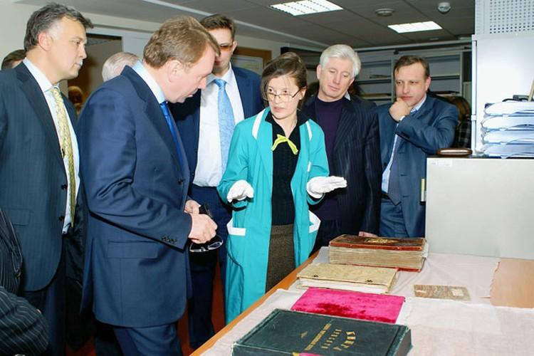 Определение источников сканирования объектов культурного наследия  в Российском государственном историческом архиве.