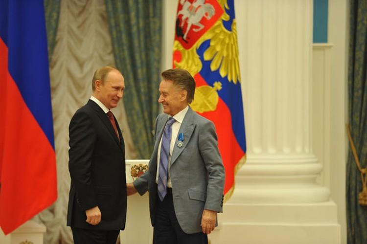 Владимир Путин и Андрей Дементьев.