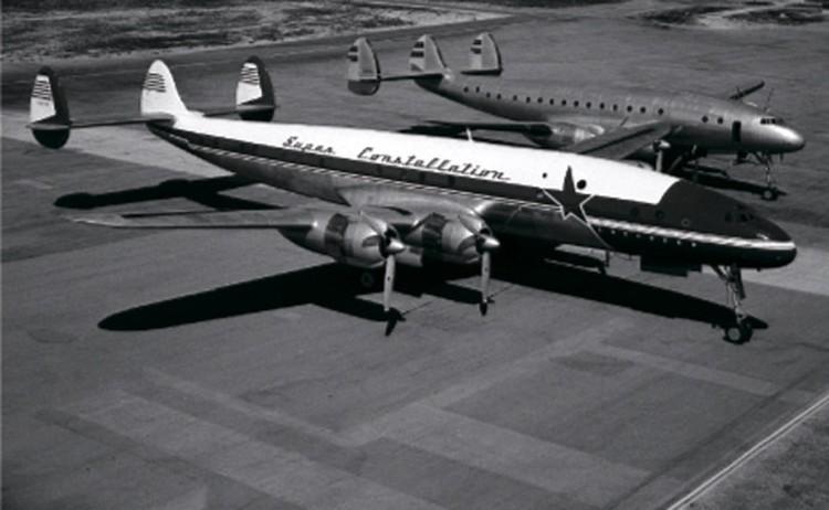 Так выглядел пропавший самолет модели Lockheed Super Constellation.