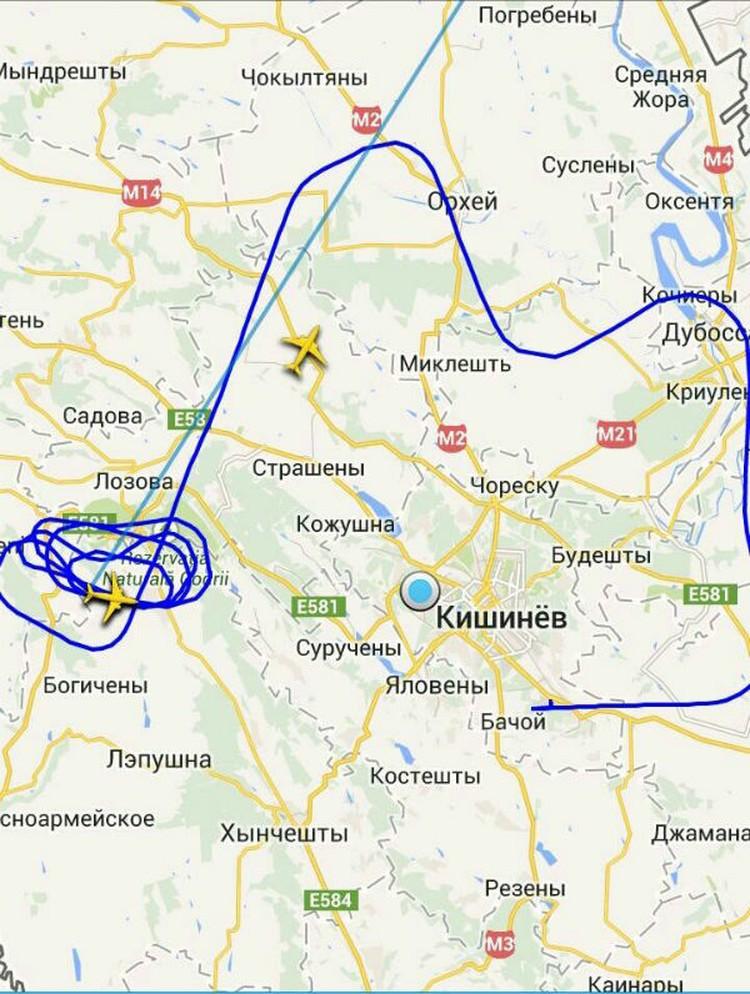 Как самолет кружил над Молдовой.