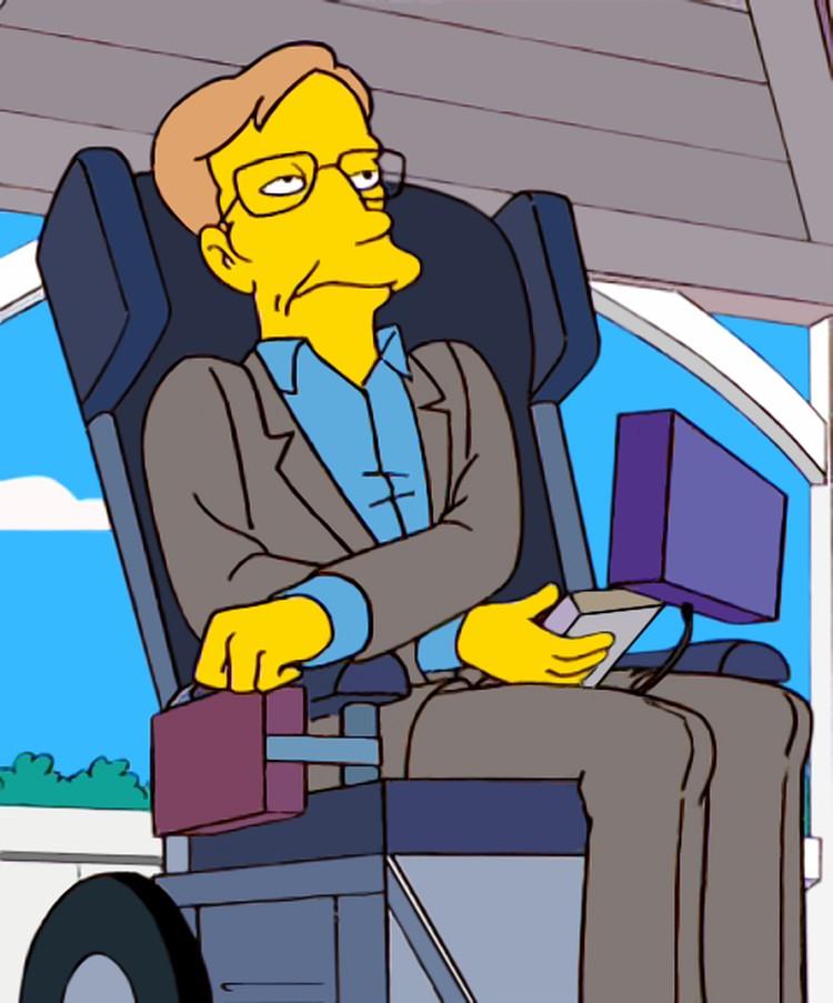 Персонаж Хокинга в «Симпсонах»