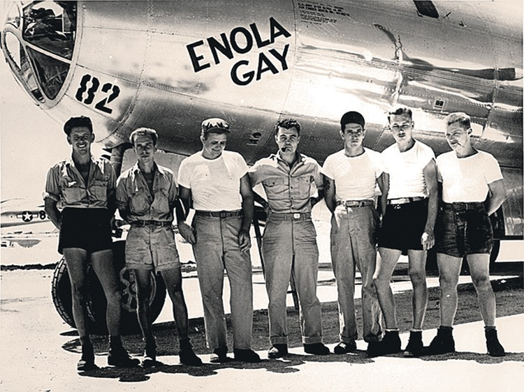 Члены экипажа бомбардировщика В-29 («Энола Гей») за бомбардировку Хиросимы стали в США героями. Фото: ru.wikipedia.org