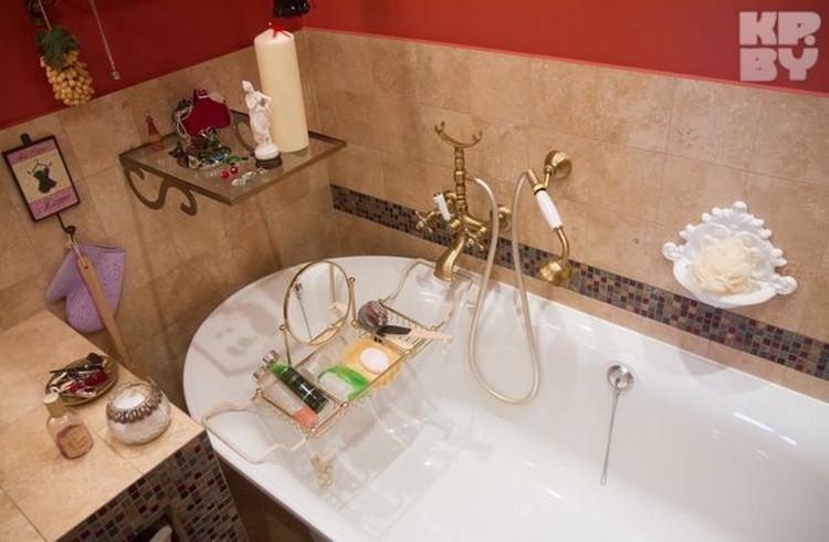Ванную комнату Светлана превратила в настоящий спа-центр.