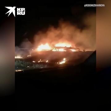 Под Харьковом упал самолёт