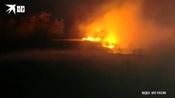 Работы по тушению природных пожаров проводятся в Ростовской области