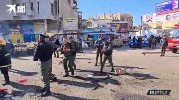 Последствия взрыва в иракской столице