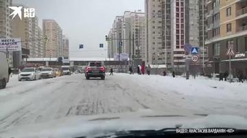 21 января из-за снегопада в Москве пробки в 8 баллов.