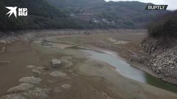 Древняя деревня обнаружена на месте высохшего водохранилища в Китае