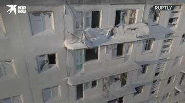 Покинутые жителями поселки Воркуты с высоты птичьего полета