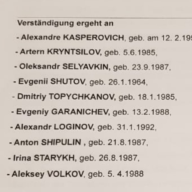 Дмитрий уберниев опубликовал список спортсменов, тренеров, врачей и массажистов, которым предъявлены обвинения в нарушении антидопинговых правил во время чемпионата мира в Хохфильцене в 2017 году