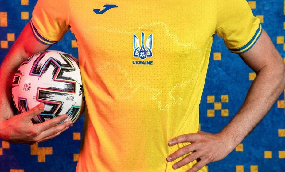 На форме сборной Украины изображены очертания страны с Крымом. Фото: Facebook Андрей Павелко.