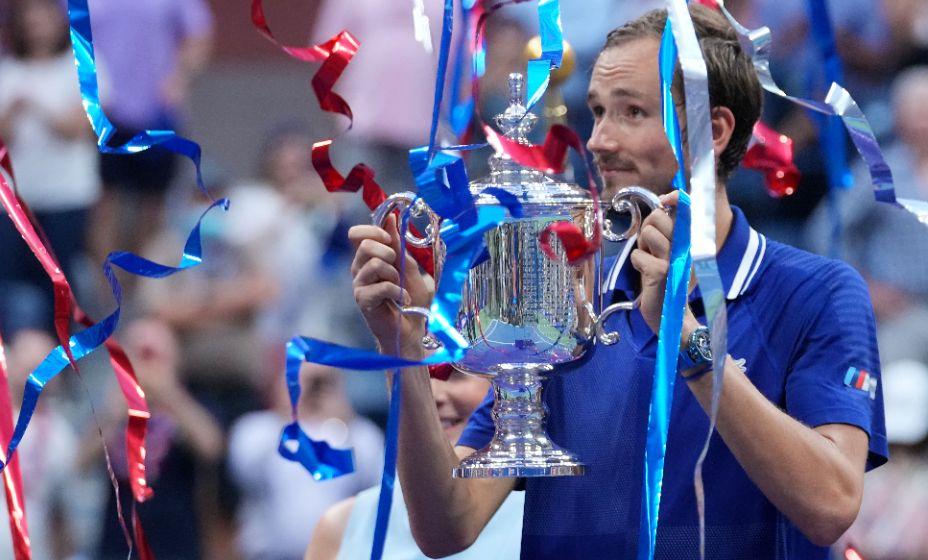 Российский теннисист Даниил Медведев празднует победу в US Open-2021. Фото: Reuters